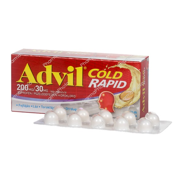 Advil Cold Rapid 200 mg/30 mg kapszula